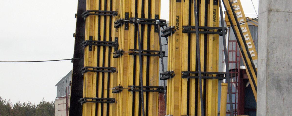 Балочно-ригельная опалубка для возведения монолитных стен и колонн