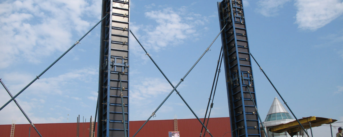 Универсальная опалубка для возведения монолитных колонн
