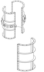 Сегменты опалубки круглых колонн